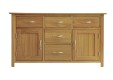 Madison Oak 4ft 6in Dresser Base