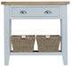 Taunton Oak Grey Painted Console Table